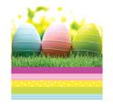 Easter Garden Plastic Banquet Tablecloths