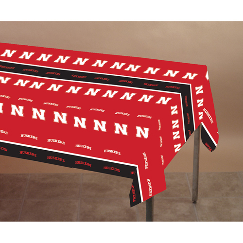 University of Nebraska Plastic Table Covers