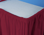 Burgundy Plastic Table Skirts - 21.5 Feet