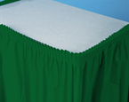 Hunter Green Plastic Table Skirts - 21.5 Feet