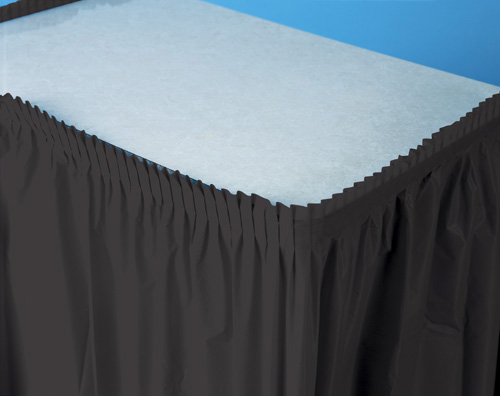 Black Plastic Table Skirts - 21.5 Feet