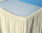 Ivory Plastic Table Skirts - 21.5 Feet