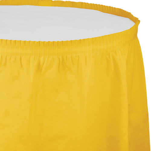 School Bus Yellow Plastic Table Skirts - 21.5 Feet