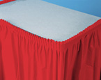 Classic Red Plastic Table Skirts - 21.5 Feet