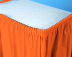 Bittersweet Orange Plastic Table Skirts