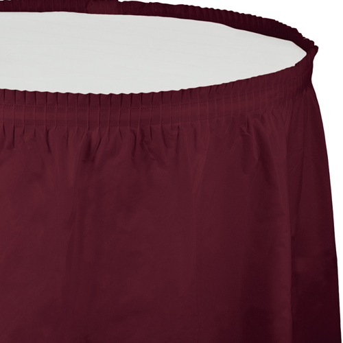 Burgundy Plastic Table Skirts