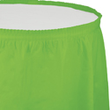 Lime Green Plastic Table Skirts