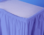 Periwinkle Plastic Table Skirts