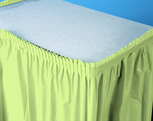 Pistachio Plastic Table Skirts