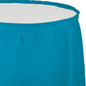Turquoise Plastic Table Skirts