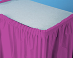 Bright Plum Plastic Table Skirts