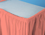 Light Coral Plastic Table Skirts