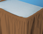 Mocha Plastic Table Skirts