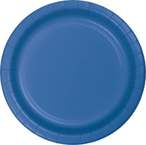 True Blue Paper Dessert Plates - 900 Count