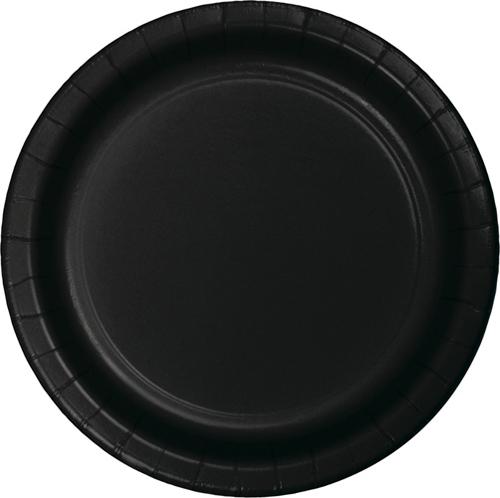Black Paper Dessert Plates - Bulk