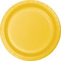 School Bus Yellow Paper Dessert Plates - 900 Count