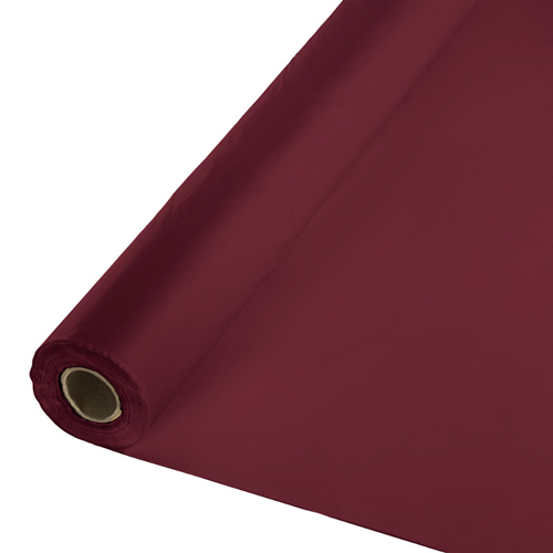 Burgundy Plastic Table Cover Rolls
