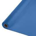 True Blue Disposable Plastic Table Covers - 6 Rolls