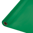 Emerald Green Plastic Table Covers - 6 Rolls