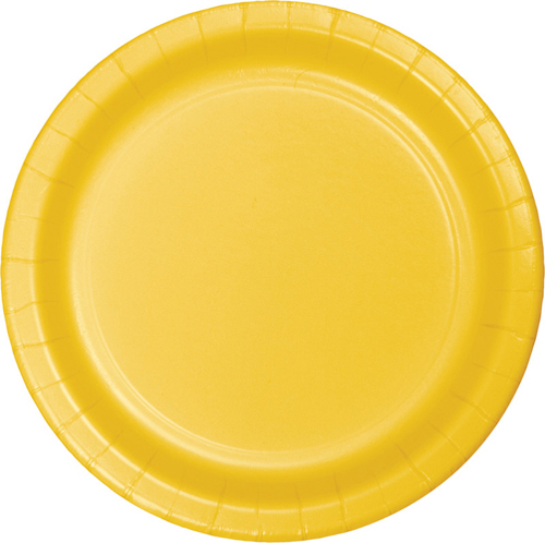 School Bus Yellow Paper Dessert Plates