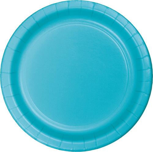 Bermuda Blue Paper Dessert Plates