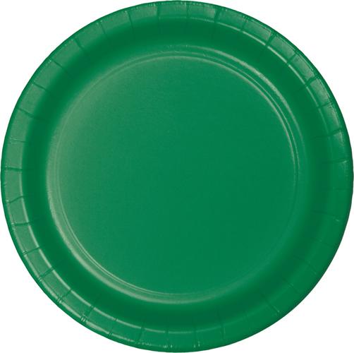 Emerald Green Paper Dessert Plates