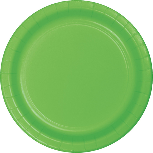 Citrus Green Paper Dessert Plates