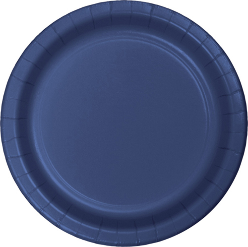 Navy Blue Paper Dessert Plates