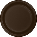 Chocolate Brown Paper Dessert Plates