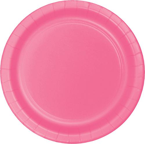 Candy Pink Paper Dessert Plates