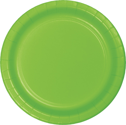 Lime Green Paper Dessert Plates