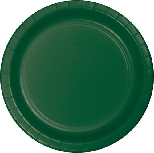Hunter Green Paper Dessert Plates