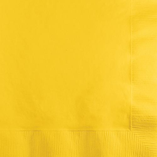 School Bus Yellow Beverage Napkins - 600 Count
