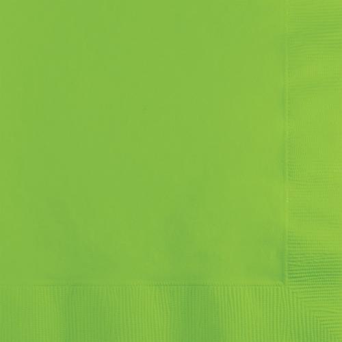 Lime Green Beverage Napkins - 600 Count