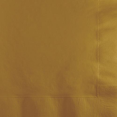 Gold Beverage Napkins - 600 Count