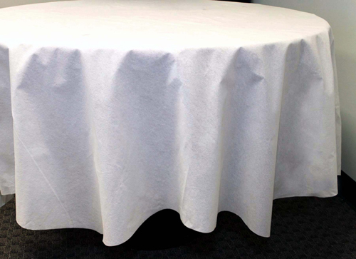 White Round Better Than Linen Tablecloths - 82 Inch - 12 Count