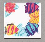 Linen Like Paper Dinner Napkins - Tropical Aquarium