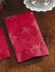 Poinsettia Embossed Dinner Napkins