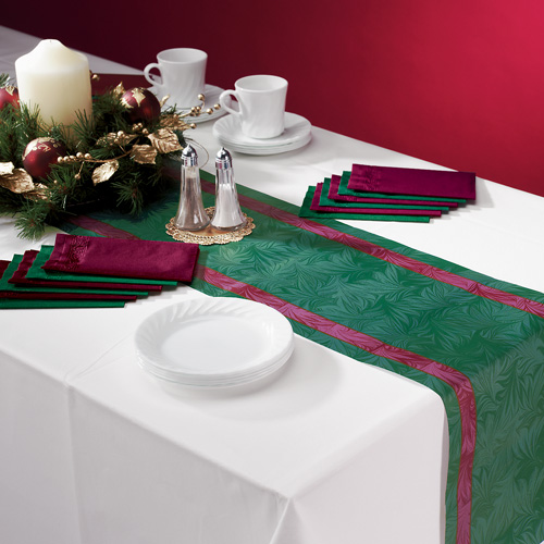 Disposable Paper Table Runners - Elegant Impressions  Linen Like