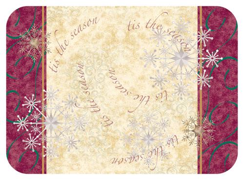 Tis The Season Paper Tray Mats - 13 5/8 x 18 3/4