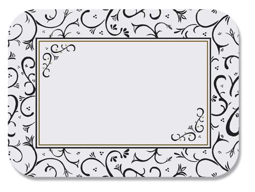 Scroll Paper Tray Mats - 13 5/8 x 18 3/4