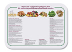 Nutrition Paper Tray Mats - 13 5/8 x 18 3/4
