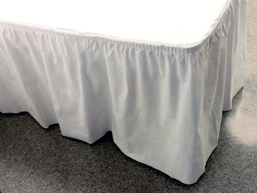 White Better Than Linen™ Table Skirts