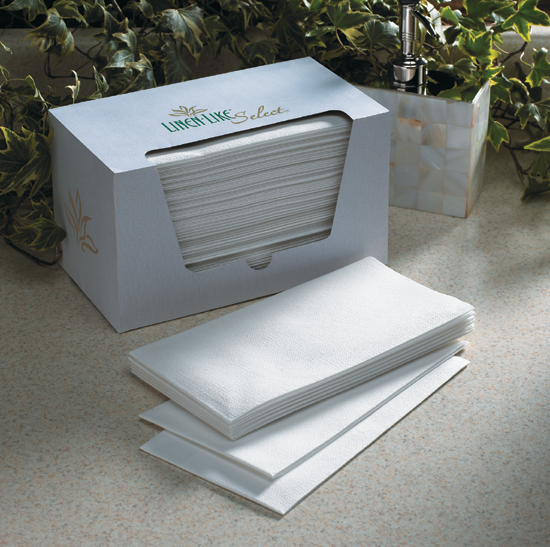 Disposable Guest Hand Towels - White Linen Like Select