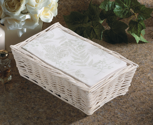 Linen Like Paper Guest Hand Towels - Nature's Green
