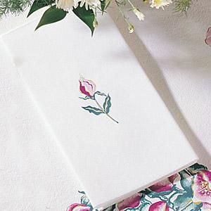 Linen Like Paper Guest Hand Towels - Floral Mist