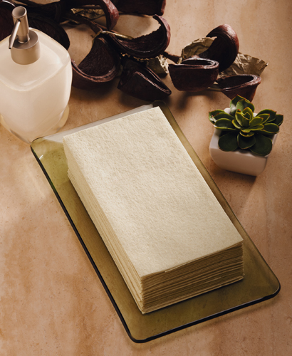 Natural Linen Like Guest Hand Towels – Recycled