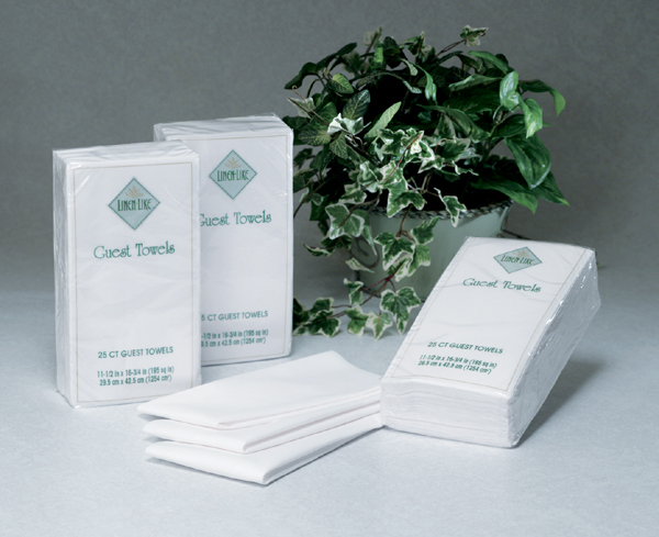 Disposable Guest Hand Towels -  White Linen Like