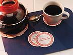 Decaf Coffee Coasters - 3 3/8 Inch