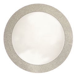 Silver Glitz Round Paper Placemats - 14 Inch